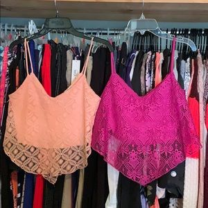 Two Charlotte Russe crop tops
